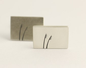 Cufflinks in Sterling Silver With Native Grasses