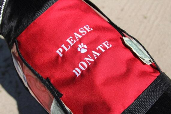 Dog Vest With Pockets Red Fundraiser Dog Vest With