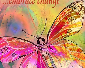 Butterfly art print  painting mixed media inspiration