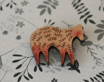 Forest Bear -  Wooden Pin