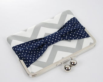 iPad Mini Case,Kindle Fire Case,Nook HD Case, Nexus 7 Cover, Nook Cover, Kindle Fire Sleeve, Tablet Clutch Case Sleeve Cover Chevron Bow