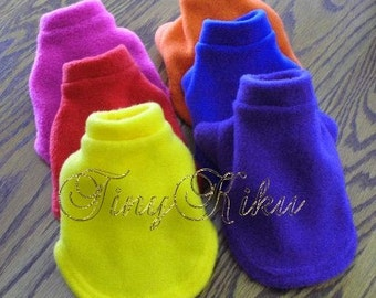 ANY COLOR Fleece Classic Dog Coat/Sweter YORKIE xxxs (Size 6), xxs (Size 8), xs (Size 10), s (Size 12), m (Size 14), l (Size 16)