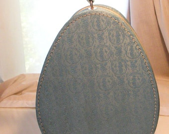 Vintage Blue Lady Sunbeam Hair Dryer With Original Teardrop Case