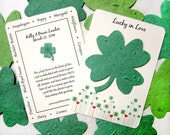 75 Lucky in Love Clover Wedding Favors - Seed Paper Clovers - Four Leaf Clover Plantable Paper  - Irish Wedding Favor - Green Seed Paper