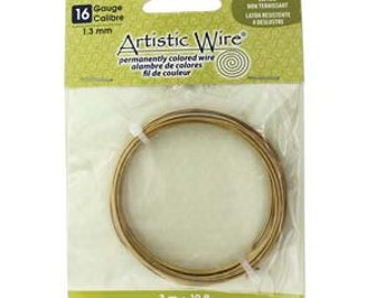 Artistic Wire 16-Gauge Non-Tarnish Brass Coil Wire, 10-Feet 420502