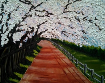 Country Road In Spring Original Oil Painting