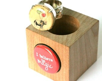 Rhino Ring, Birthday Party Jewelry, Hammered Silver Ring, Recycled Jewelry, Wine Cork Ring - Magical Girl Gift by Uncorked