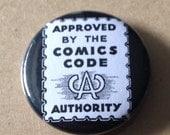Comics Code Button
