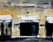 31 Rue - Chanel Paris Street Scene Watercolor Art Print
