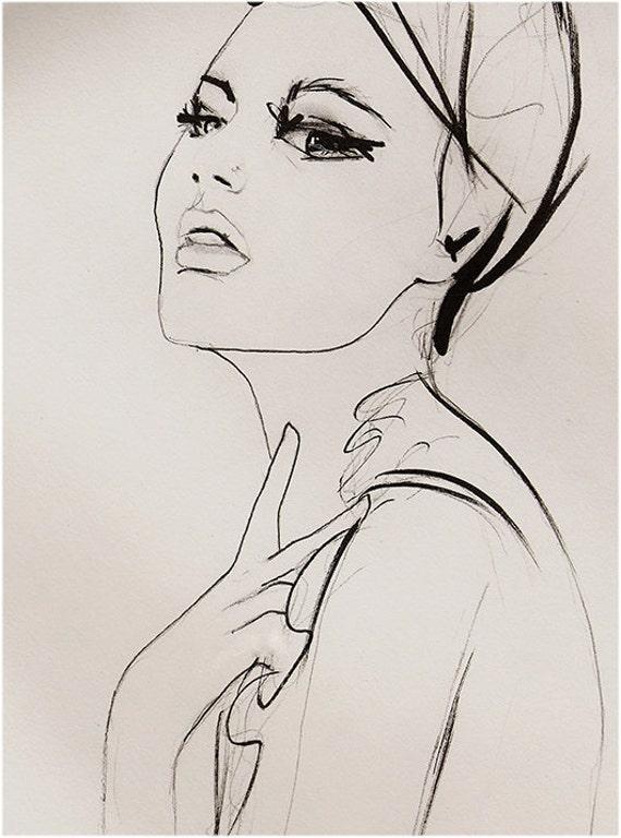Substitute  - Fashion Illustration Art Print