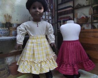 American Girl Addy 1864 Plaid Petticoat Historical Replica