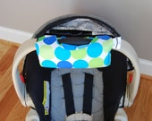 Cute NEW DESIGN Blue and Green Disco Dots Car Seat Handle Arm Pad with Hand Grip