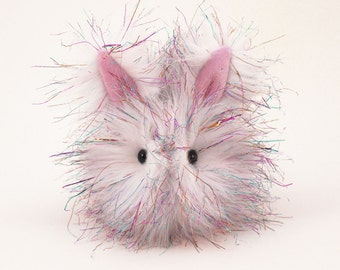 Valentine's Gift Stuffed Animal Cute Plush Toy Bunny Kawaii Plushie Sparkle the Bunny Rabbit Cuddly Snuggly Faux Fur Toy Small 4x5 Inches
