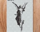 Angel Stencil- Reusable Craft & DIY Stencils- S1_01_90 -8.5x11- By Stencil1