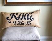 Wedding Burlap Pillow - Mr & Mrs - wedding - anniversary - burlap project