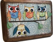 Wall Plaque, Key Hook,  Key Rack, Jewelry Rack Holder 5x7 Decoupaged Wooden Plaque   MADE TO ORDER