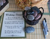 Wishing Stones - Unique Special Occasion or Wedding Guest Book Alternative - Guestbook (set of 60)
