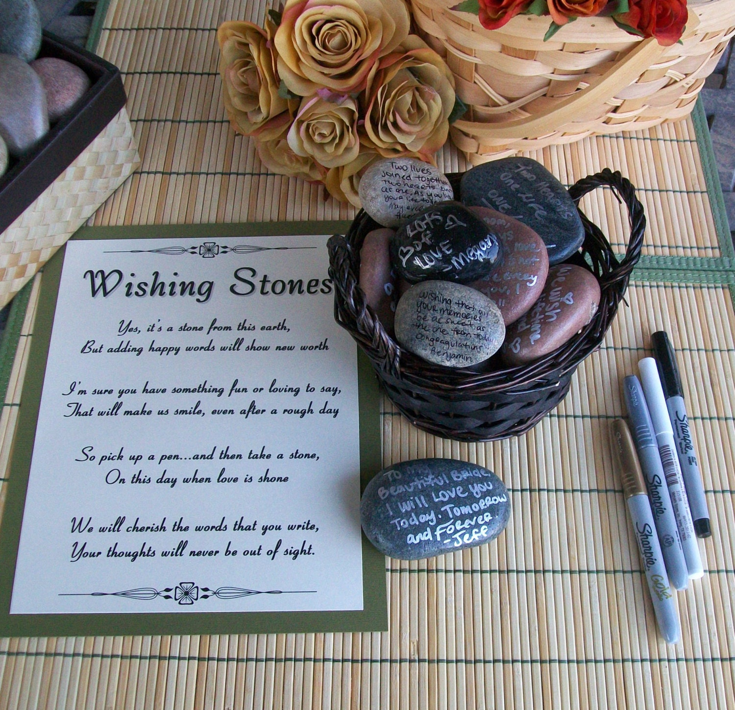 Wedding Guest Book Where It S Your Guests That Sign Their: Wishing Stones Unique Special Occasion Or Wedding Guest Book