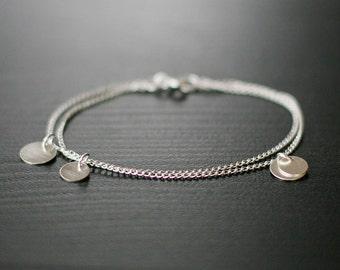 bellissima - brushed silver coin bracelet by elephantine