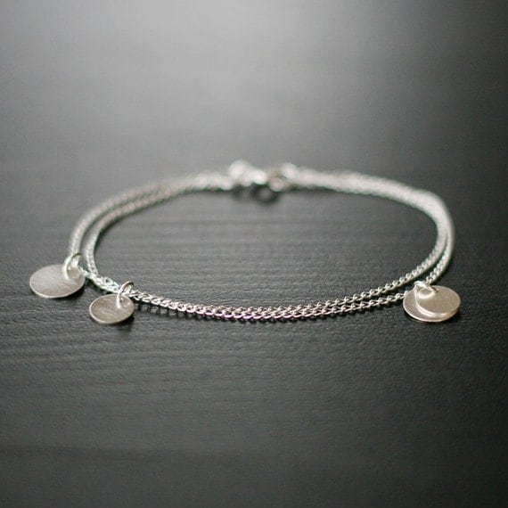 bellissima - brushed silver coin bracelet by elephantine