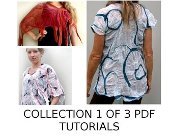 Collection 1 of 3 PDF Nuno Felting Tutorials  Patterns Easy Feltmaking Instructions Instant download