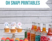 PRINTABLE Oh Snap! party decor, labels and signs- essential camera and photography party kit by kojodesigns