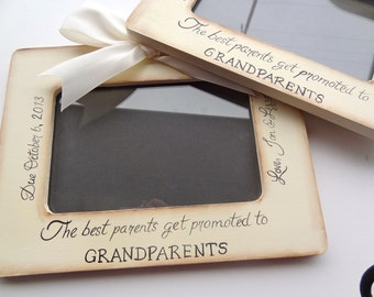 1 Ultrasound Grandparent Picture Frame Ultrasound Sonogram, New Baby Announcement,  4x6 The Best Parents Get Promoted to Grandparents