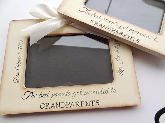 grandparent picture frame sonogram new baby announcement