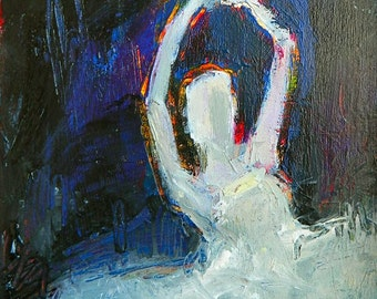 Circle Of Love Abstract impressionist ballet acrylic  original painting