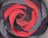 Size 10 Cotton Crochet Thread 50 yards Hand Dyed orange brown gray Izo