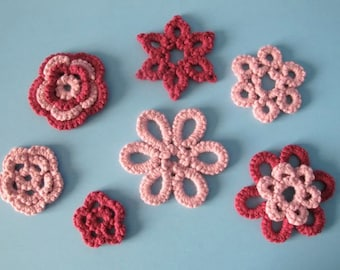 Oversized Tatted Wall Flowers - PDF Tatting Pattern