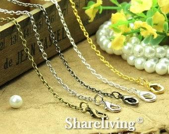 4pcs Silver / Golden / Bronze / Gunmetal / Shiny Silver  Finished 0 Shap Chains