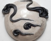 Moon and Clouds Raku Wall Hanging 3
