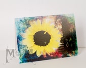 Greeting card - Sunflower Stairs - Adorned with Flowers Collection