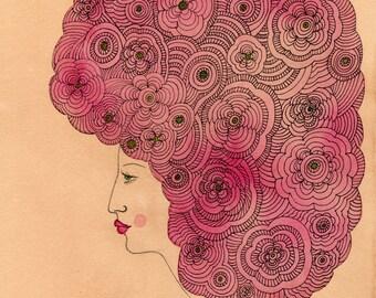 Florid  Art Print, Floral Art Print, Flowers, Bouquet, Flower Print,