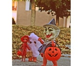 halloween print doll witch kewpie aceo size Trick Or Trio
