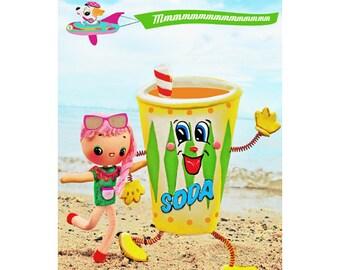 doll sodapop print aceo size SODA LICIOUS