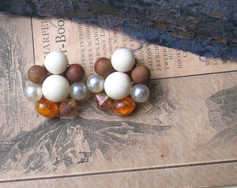 Vintage Earrings Shades of Fall