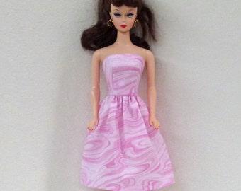 "11.5"" Handmade Fashion Doll Dress - pink"