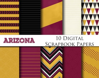 Arizona Digital Scrapbooking Background Papers - Instant Download - Digital Printable Scrapbook Papers