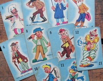 Vintage Colorful Howdy Doody Cards - Set of 10 - Blue Version - Fun Character Illustrations