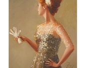 The Lady Never Liked Having Her Portrait Painted- Print From Original Oil Painting