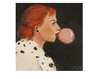 Virginia's Vice- Art Print From Miniature Oil Painting