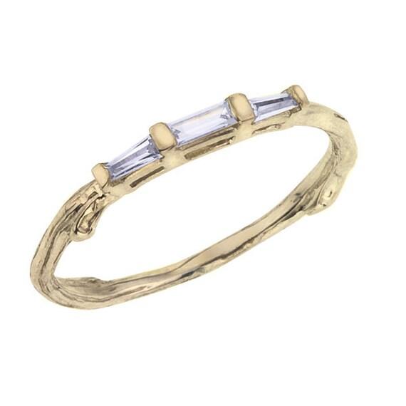 Items Similar To Diamond Baguette Wedding Band
