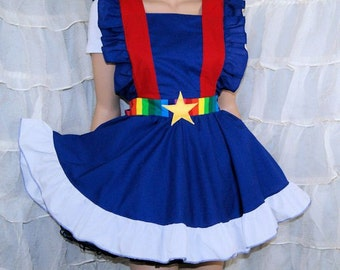 Rainbow Brite Cosplay Pinafore Apron Costume Skirt Adult ALL Sizes - MTCoffinz
