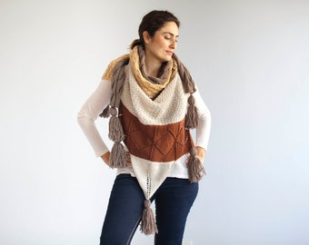 Plus Size African Shawl with Fringe by Afra