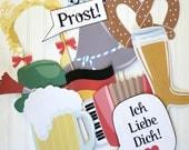 Oktoberfest PHOTO BOOTH PROPS Printable - diy printable / downloadable pdf