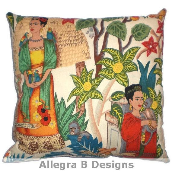 Frida Kahlo Decorative Throw Pillow Mexican Art Home By