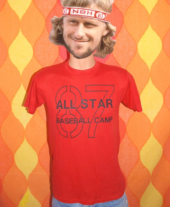 Vintage 80s T Shirt Bakersfield All Star Baseball By