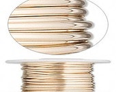 14Kt Gold Filled Full Hard 12 Gauge Round Wire 5 Feet Jewelry Supplies Findings
